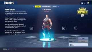 Fortnite Battle Royal: solo play,trying to get the umbrella for solo
