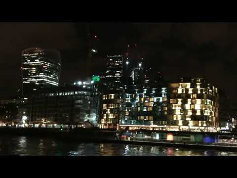 Thames river cruise by night London tour