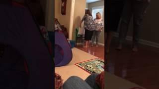 Marine surprises mom