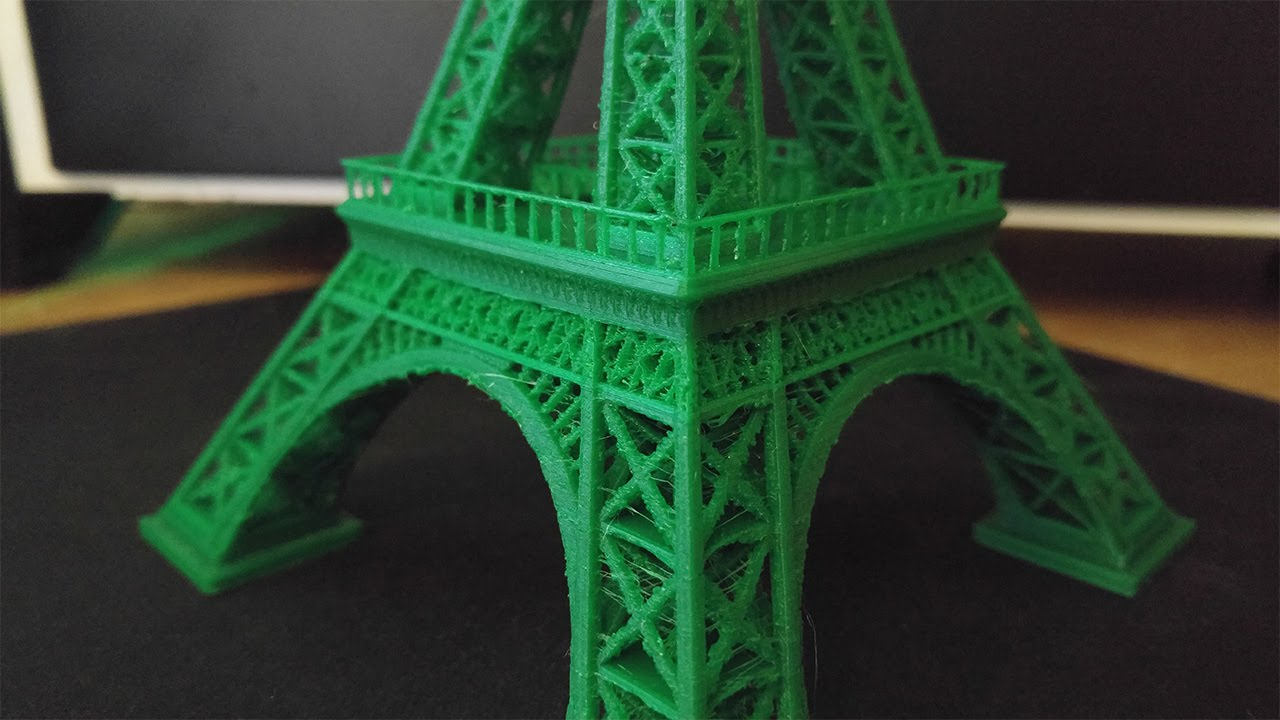 3D printed Eiffel tower time lapse