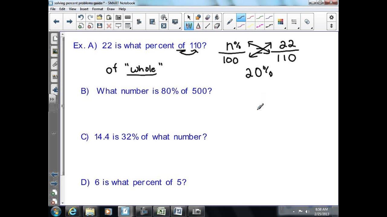 Solve Basic Percent Problems 7th Grade Math