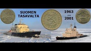 Финляндская Республика (1963-2001). Новая марка. Обиходные монеты.