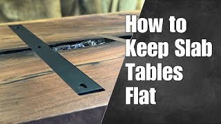 How to Keep Slab Tables Flat — How To Woodworking