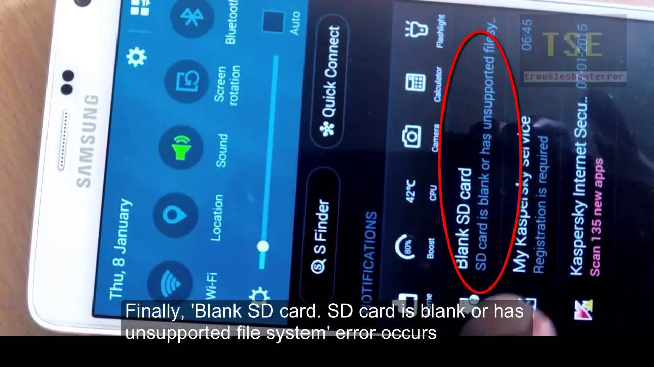 how to fix 'damaged sd card' - sd card is damaged. try reformatting