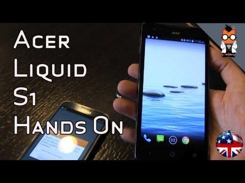 "Acer Liquid S1 - 5.7"" Quad Core Smartphone Hands On"