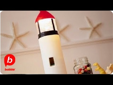 How To Make A Lighthouse In A Bottle Summer Kitschy Crafts