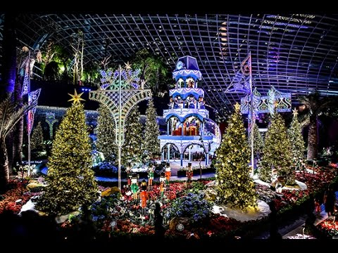 merry medley christmas 2016 at gardens by the bay flower dome 11 nov 16 5 jan 17 youtube