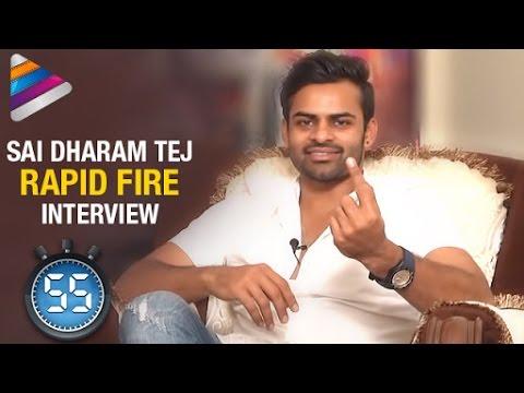 Samantha is My Crush says Sai Dharam Tej | Rapid Fire | Interview | Thikka Movie | Telugu Filmnagar