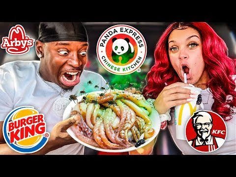 Letting Fast Food Employees DECIDE What We Eat for 24 HOURS (IMPOSSIBLE FOOD CHALLENGE)