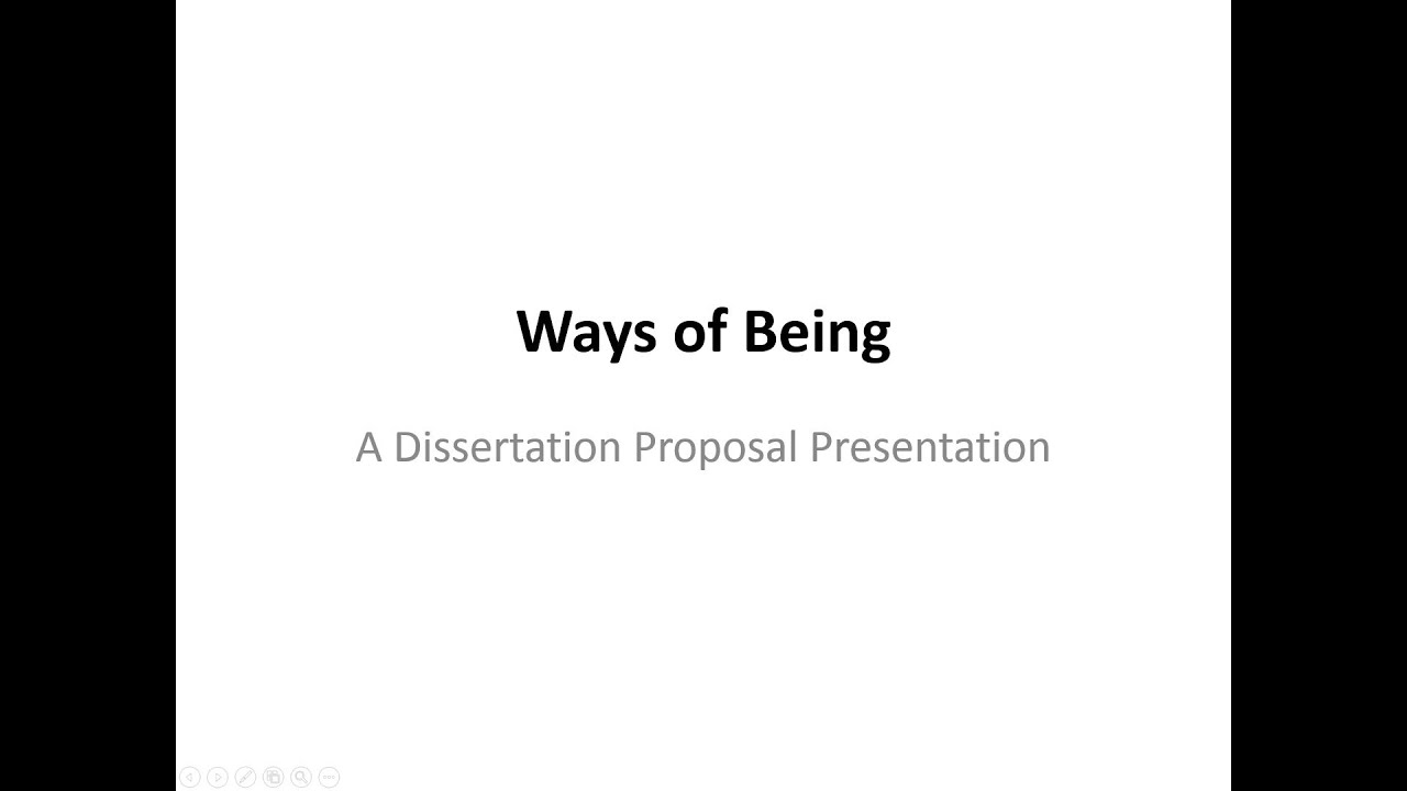 Youtube dissertation proposal