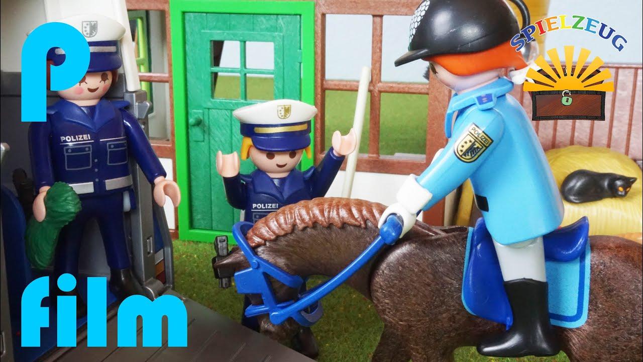 Das neue polizei pferd einsatz mit sabine michael playmobil film geschichte deutsch youtube - Pferde playmobil ...