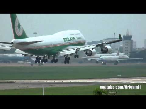 EVA Air B747-400 B-16410 Landing 25L Tan Son Nhat