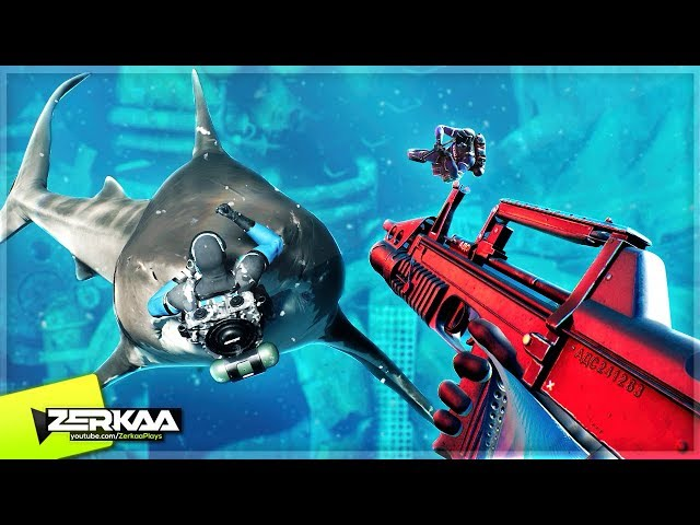 UNDERWATER BATTLE ROYALE WITH SHARKS! (Last Tide: Aquatic Royale)
