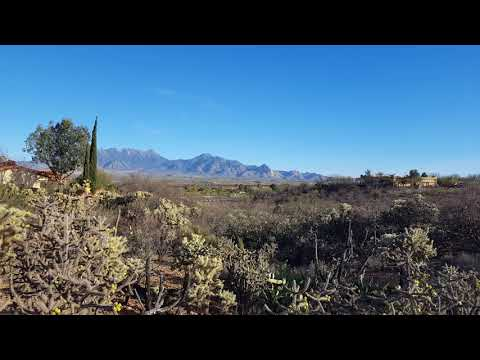 Two minutes of beautiful Desert scenery with accompanying bird song Green Valley AZ 03192018