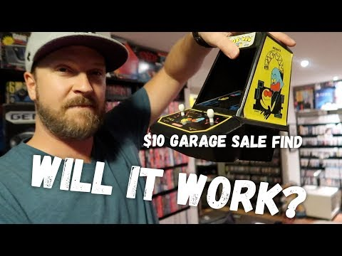Will It Work? $10 Vintage Coleco Pac-Man Arcade Unit