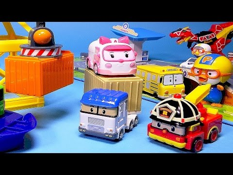 Poli Car toys - Robocar Poli Truck & Harbor playset - ToyPudding 로보카폴리