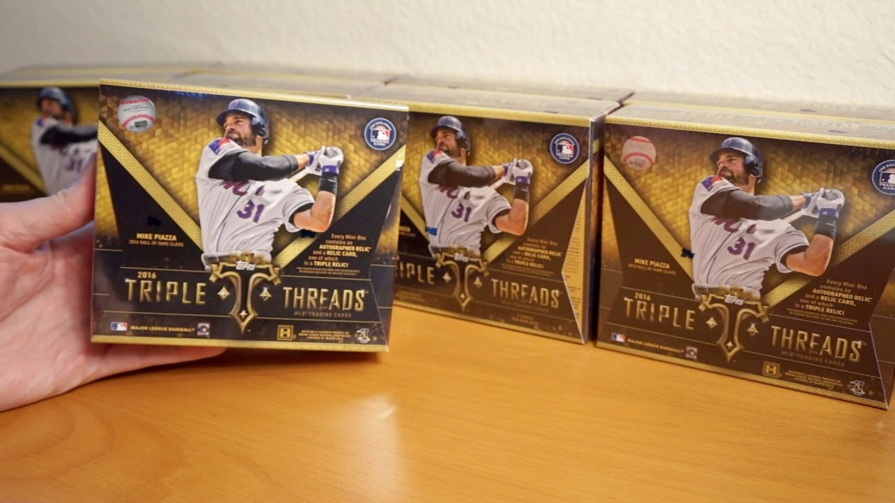 2016 Topps Triple Threads Case 1: Boxes 1-3 CASE HIT Great start!