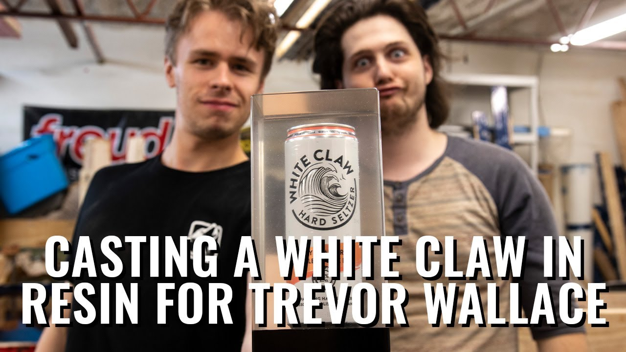 Casting a White Claw in Resin For Trevor Wallace