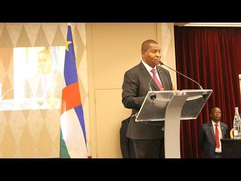 Discours du Président Touadéra face à la communauté centrafricaine de France