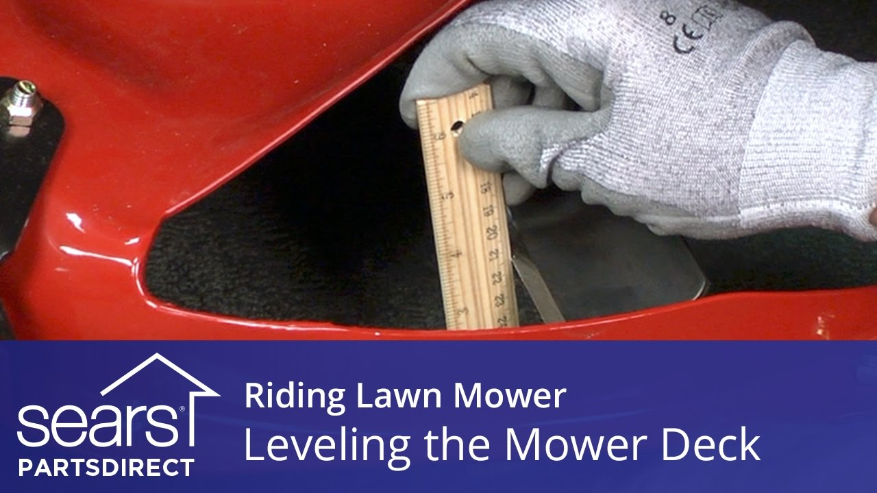 Leveling A Riding Lawn Mower Deck For An Even Cut Youtube Moen 3270 Parts List And Diagram Ereplacementpartscom