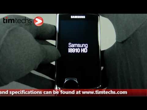 Samsung i8910 Omnia HD Hands on | Timtechs.com