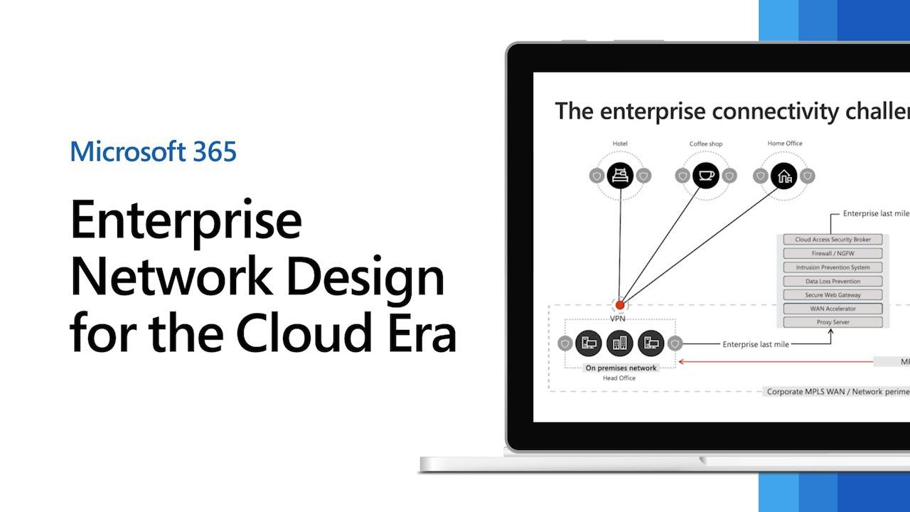 Microsoft's enterprise network design for the cloud era