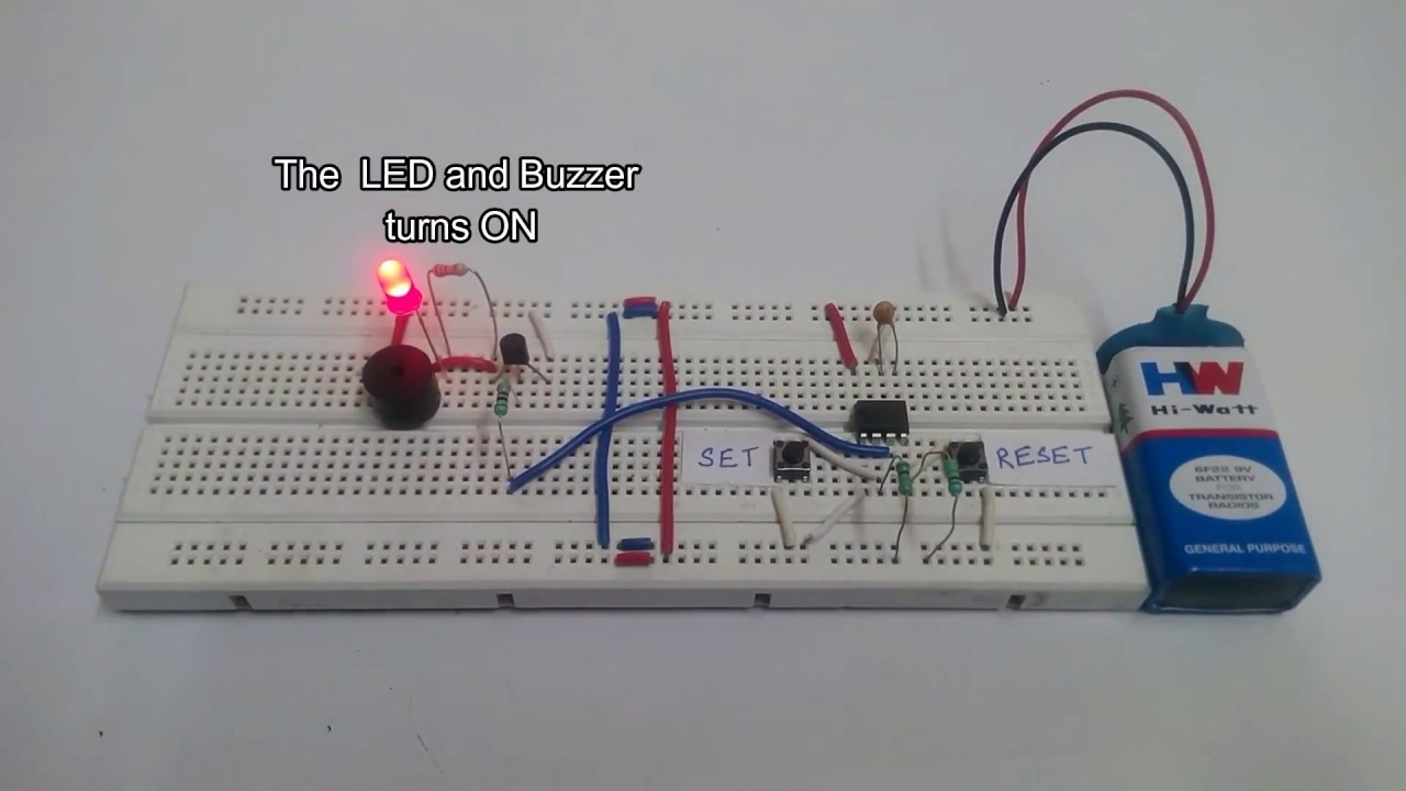 Panic Alarm Circuit Using 555 Timer Ic Youtube Simple Design Low Voltage