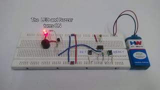 Panic Alarm Circuit using 555 Timer IC