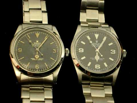 Rolex Explorer 1016 vs 114270, beats per hour comparison