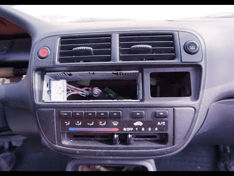 1996 1997 1998    1999    2000    HONDA       CIVIC     Radio Climate Heater Control Removal Replacement  YouTube