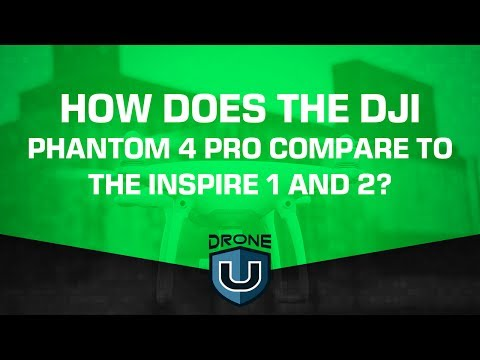How does the DJI Phantom 4 Pro compare to the Inspire 1 and Inspire 2?
