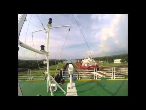 Celebrity Infinity Cruise Ship Transiting a Panama Canal Lock