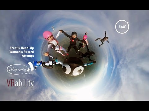 Skydiving Freefly VR 360 // Women's Record Attempt