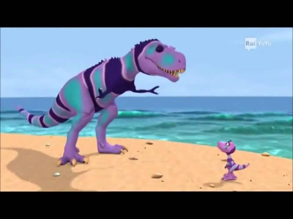 Il treno dei dinosauri episodio la conchiglia di tiny