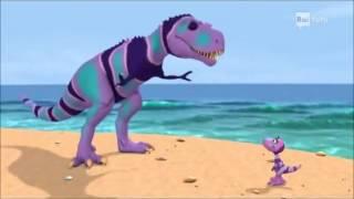 Il treno dei dinosauri Episodio 7 La conchiglia di Tiny   Cartoni animati per bambini