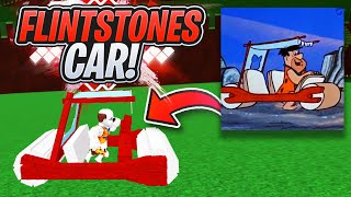FLINTSTONES CAR!!!! (NO Scale Tool!) - Build a Boat For Treasure ROBLOX
