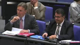 Gregor Gysi dreht durch ! Im Bundestag.