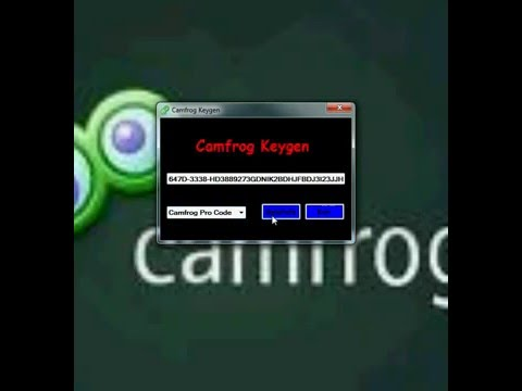 KeyGen Serial CamFroG Pro Code For 6.18(Build 622) New 2018