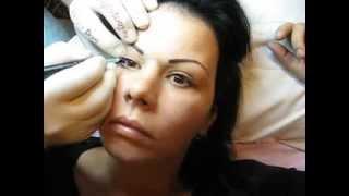 Tatuaj ochi Zarescu Dan 0745001236 tatuaje permanente contur ochi http://www.machiajtatuaj.ro