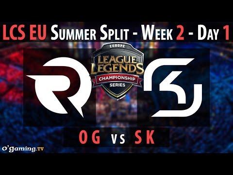 SK Gaming vs Origen - LCS EU 2015 - Summer Split - Week 2 - Day 1 - SK vs OG [FR]
