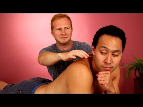 Guy Friends Massage Each Other For The First Time
