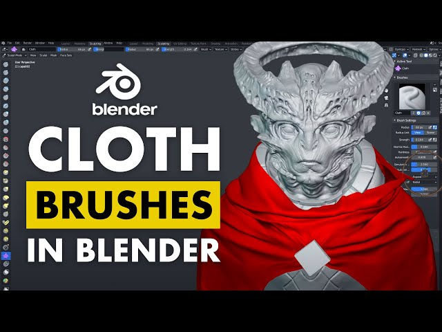 Using Cloth Brushes in Blender to Enhance your Clothing