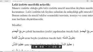 İst.Üni #İLİTAM #Arapça 1/ 12.Ünite / LAFZİ İZAFET