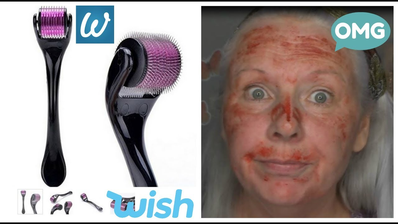 how not to use a derma roller graphic please read description