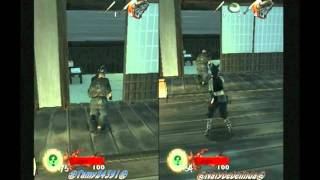 Tenchu: Wrath Of Heaven PS2 Multiplayer Coop Mission 3 Castle A ω/ ㊌Tamy24391㊌ HD