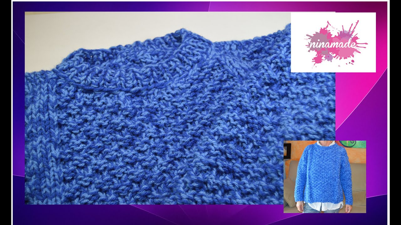 Diy como tejer un jersey con doble punto de arroz as - Como hacer un jersey de punto ...