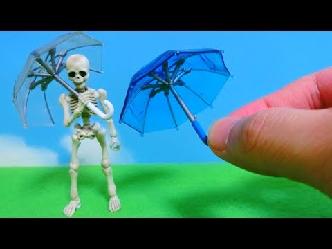 Japanese Miniature Clear Plastic Umbrella - Japanese Unique Capsule Toy (GASHAPON)