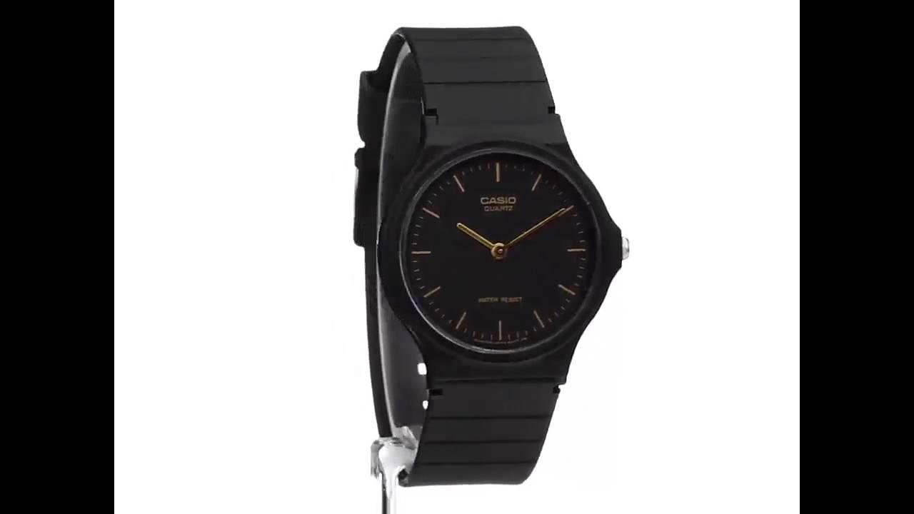 b3bb3ae26 Casio MQ24 1E black resin watch review - YouTube