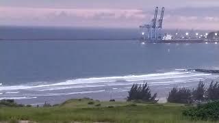 Final de tarde em Imbituba Santa Catarina-Praia do porto.