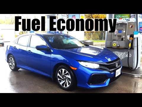 2018 Honda Civic Hatch - Fuel Economy MPG Review + Fill Up Costs